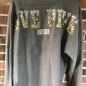 (PINK brand) Grey Long sleeve shirt